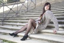 Photo pose femme sexy escalier